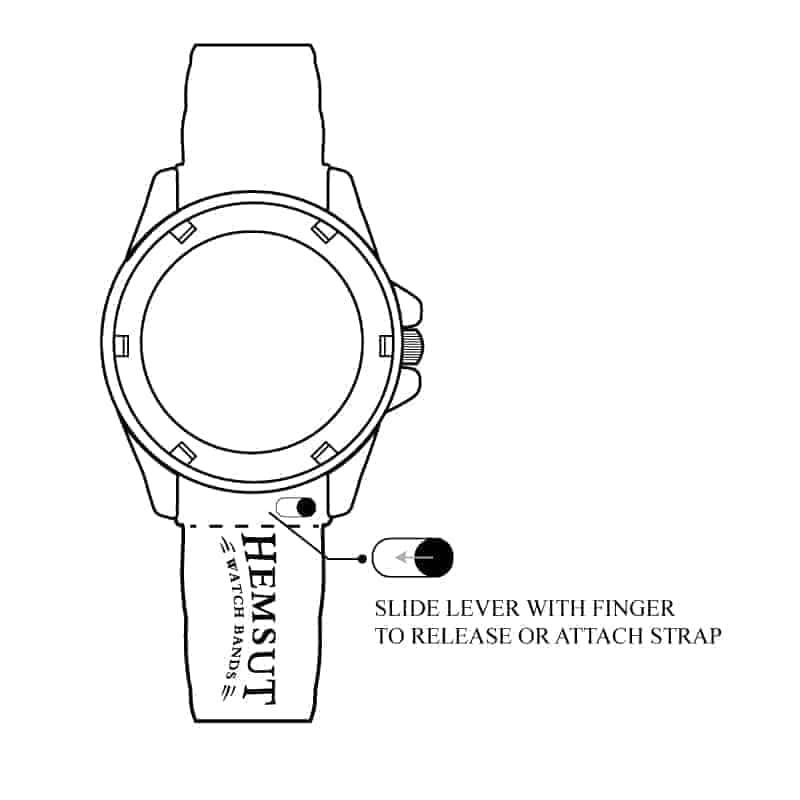 White | Alligator Embossed Leather Watch Bands Quick Release