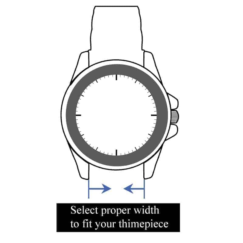 Black | Silicone & Leather Hybrid Watch Straps