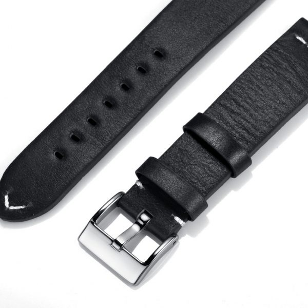 Black | Calfskin Watch Straps Quick Release
