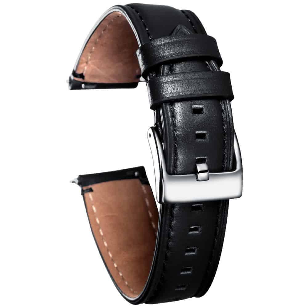 Black | Cordovan Watch Straps Quick Release - 24mm