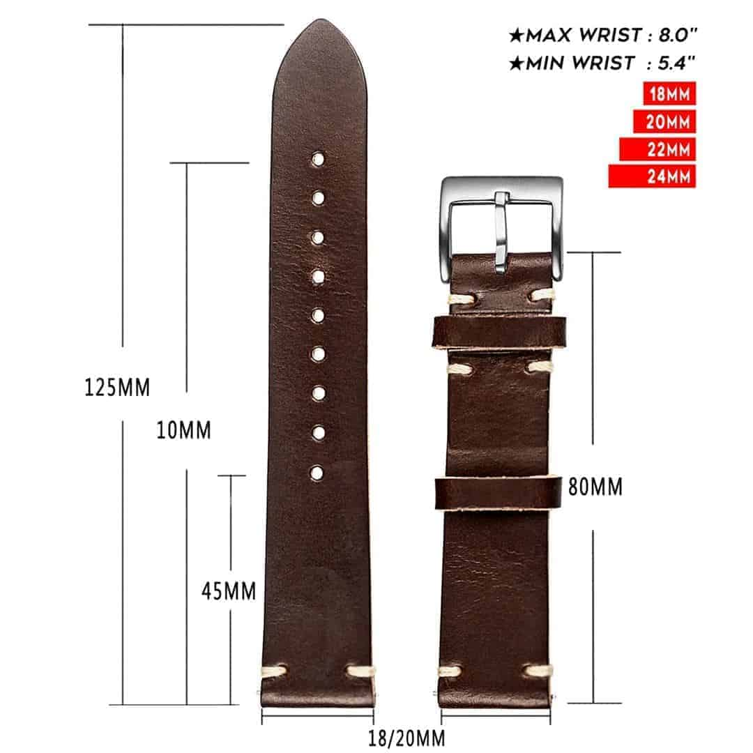 WITHINGS NOKIA ACTIVITE AND STEEL HR Watch Bands | Brown Horween Leather  | Hemsut