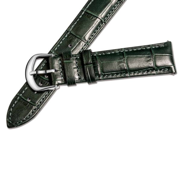 Green | Alligator Embossed Leather Watch Bands Quick Release