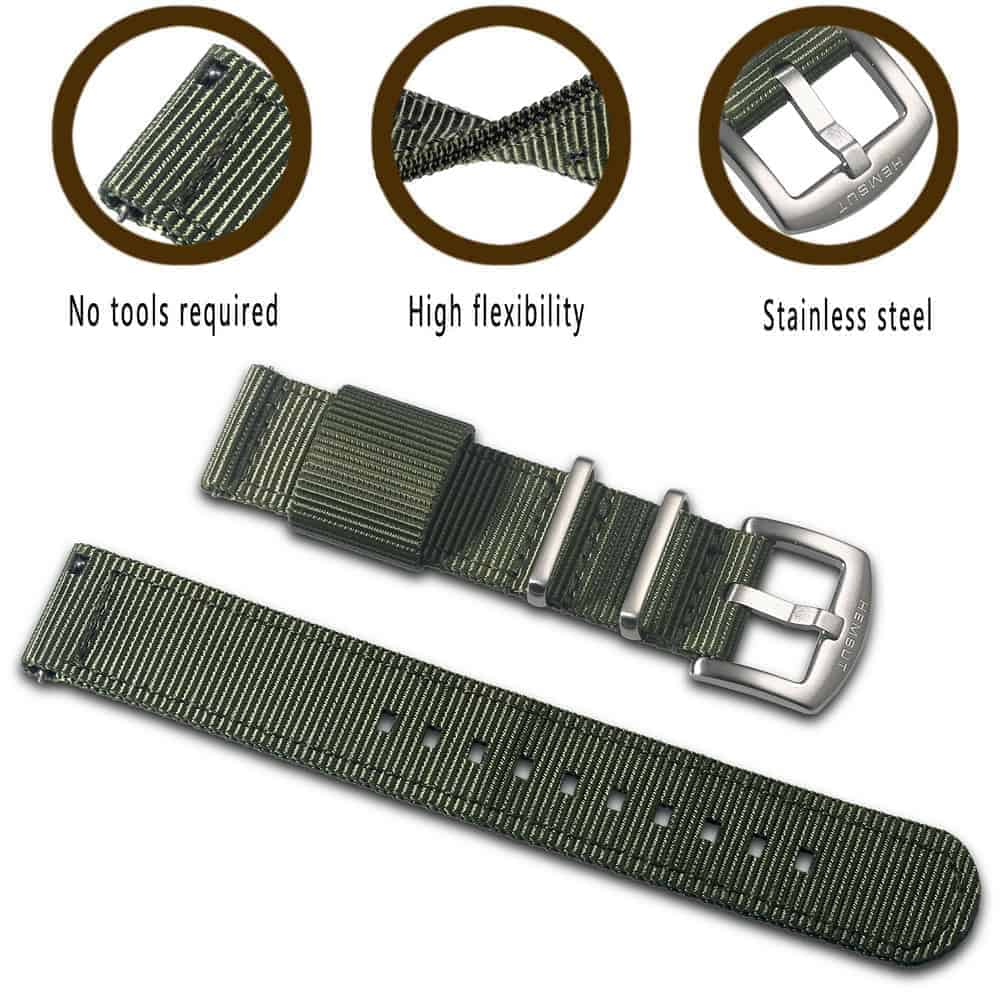 Green | Nylon Watch Band