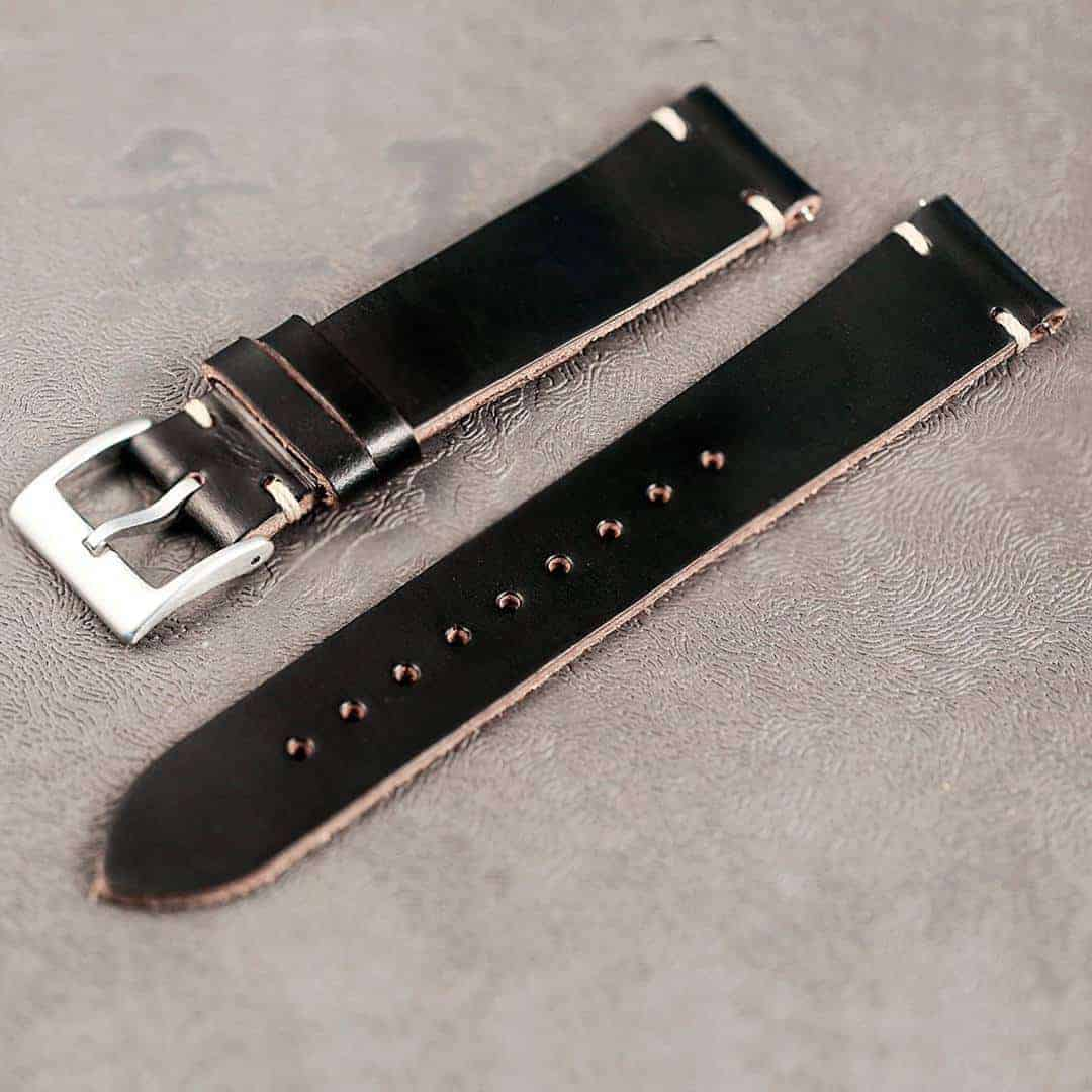 WITHINGS NOKIA ACTIVITE AND STEEL HR Watch Bands | Black Horween Leather  | Hemsut