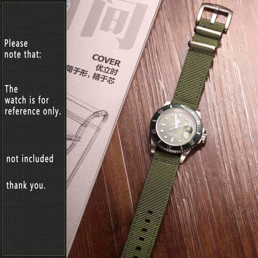 Green   Nylon Watch Band
