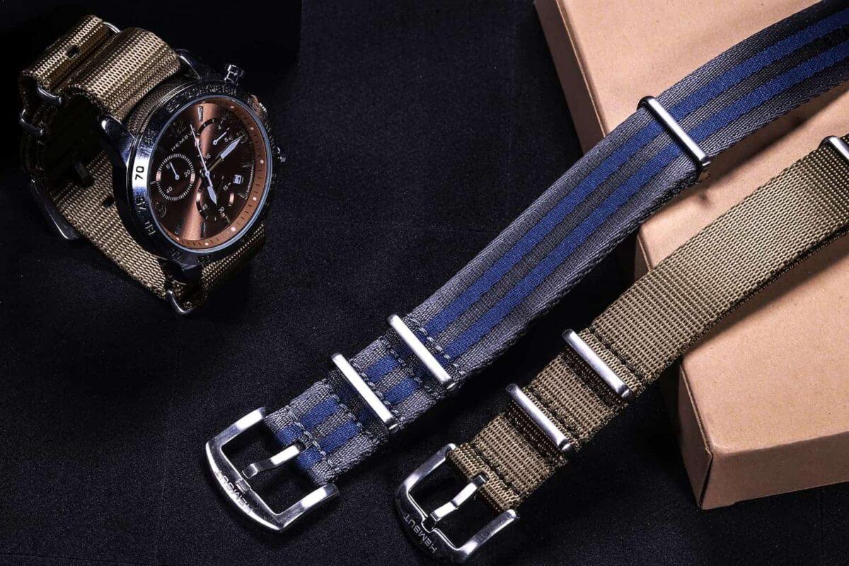 Blue in Grey James Bond NATO Watch Strap   Hemsut