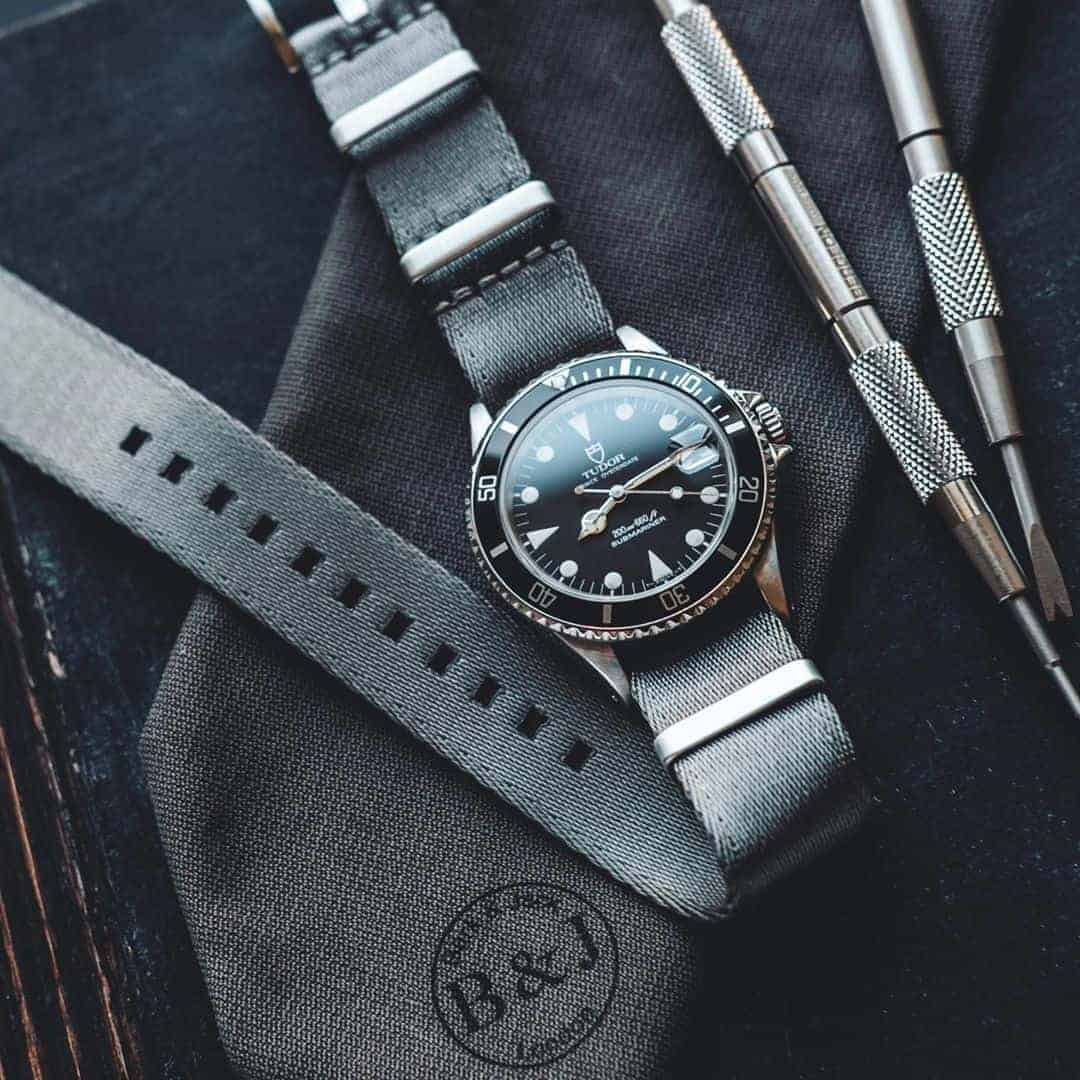 Grey Waterproof Nylon NATO Watch Bands | Hemsut