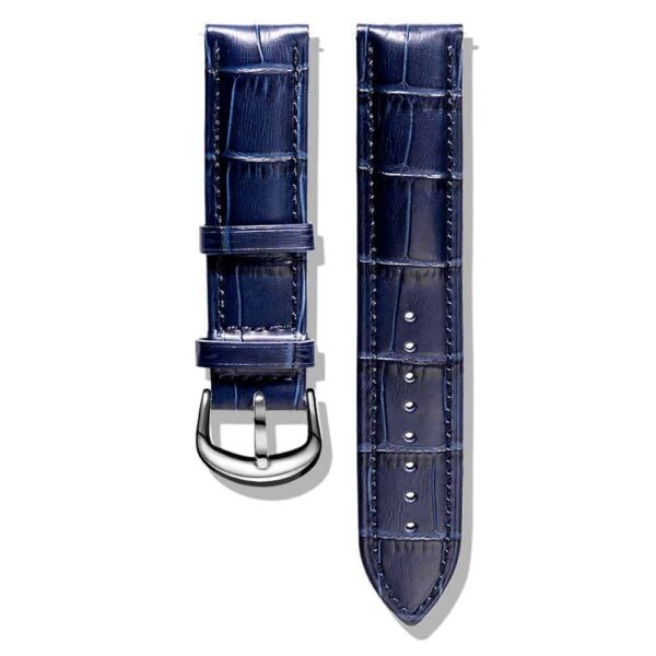 Blue | Alligator Embossed Leather Watch Bands Quick Release