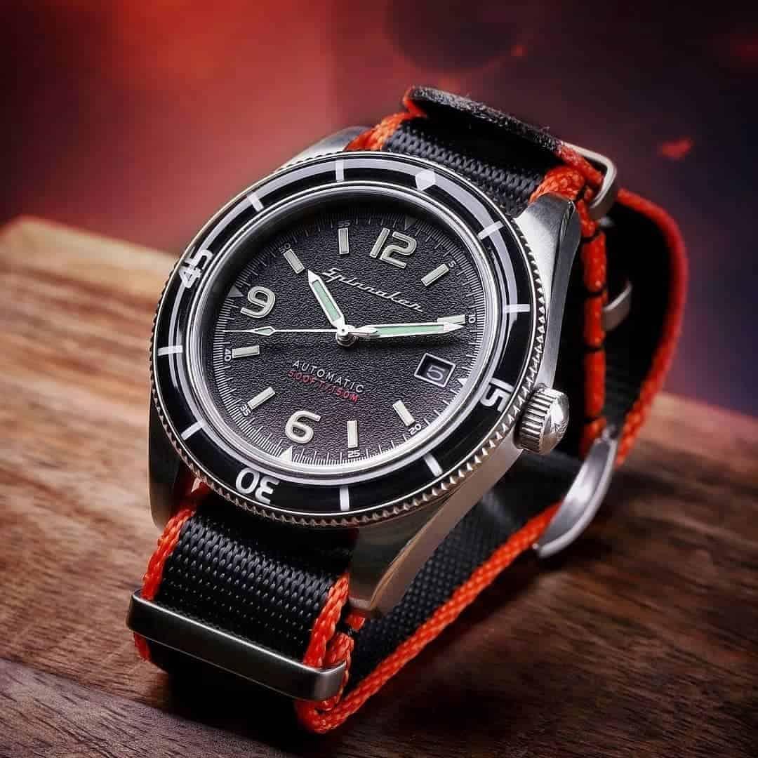 Black & Orange NATO ZULU Watch Straps | Hemsut