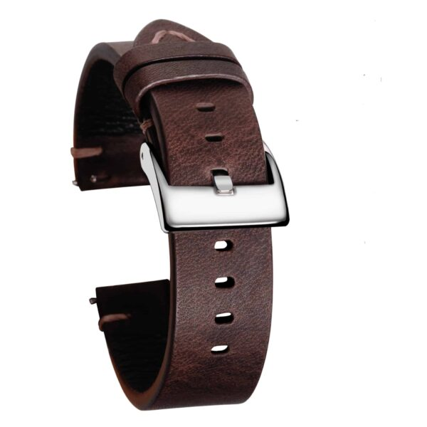 Saddle Vintage Leather Watch Straps Quick Release