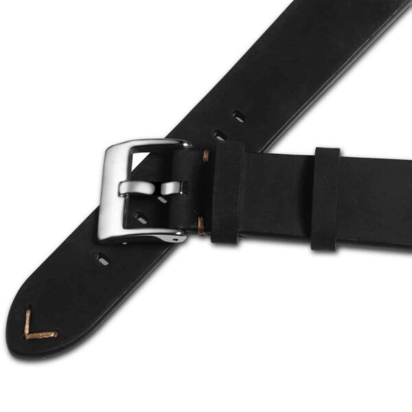 Black | Vintage Leather Watch Straps Quick Release