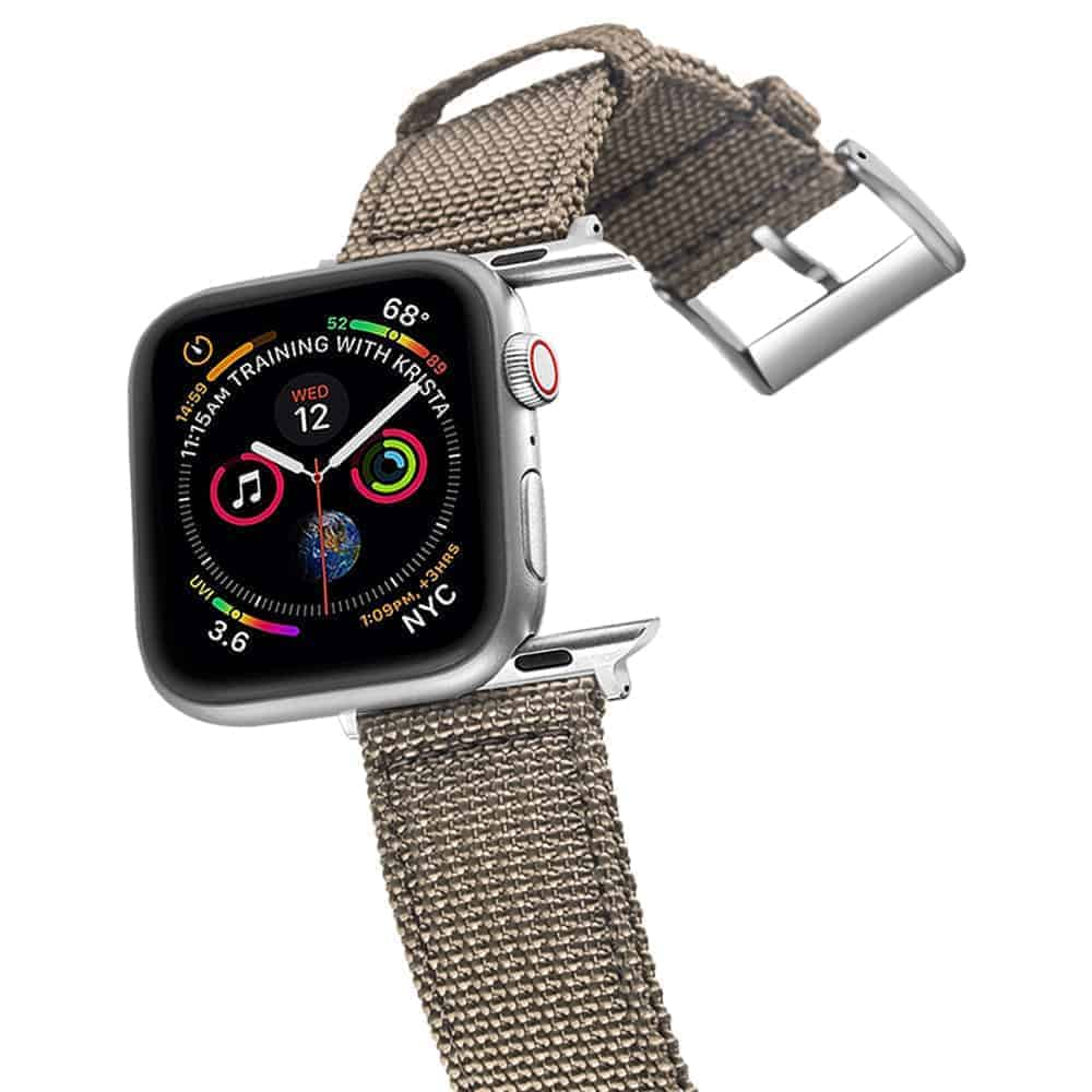 Apple Watch Bands   Canvas Straps   Grey