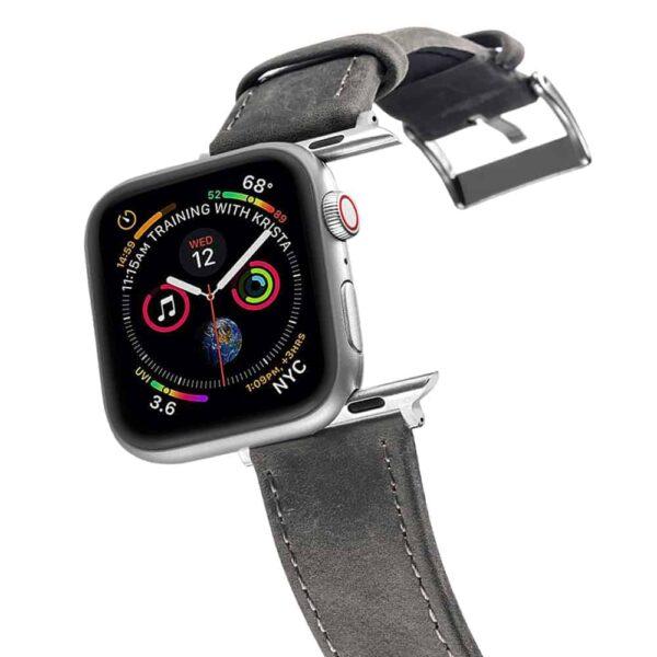 Apple Watch Bands | Genuine Leather Watch Bands | Dark Grey