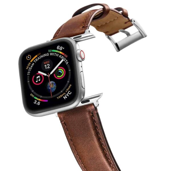 Apple Watch Bands | Genuine Leather Straps | Coffee