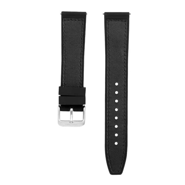 AMAZFIT BIP | Silicone & Leather Hybrid Watch Bands | Black