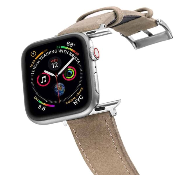 Apple Watch Bands | Genuine Leather Watch Bands | Grey