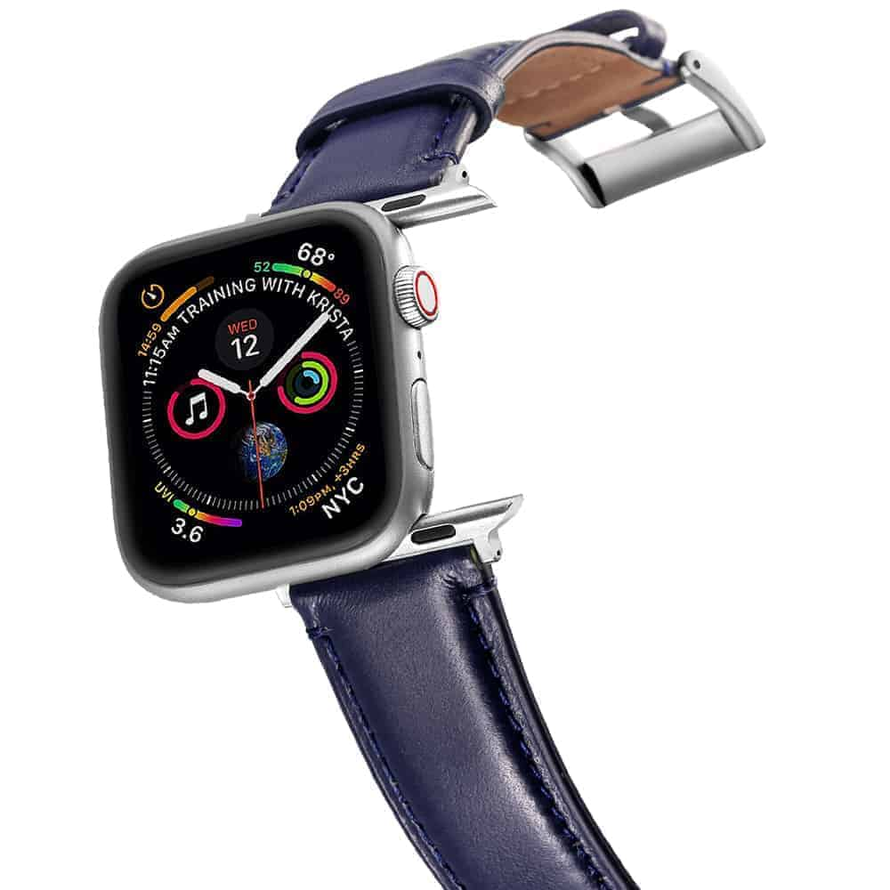 Apple Watch Bands | Genuine Leather Straps | Blue