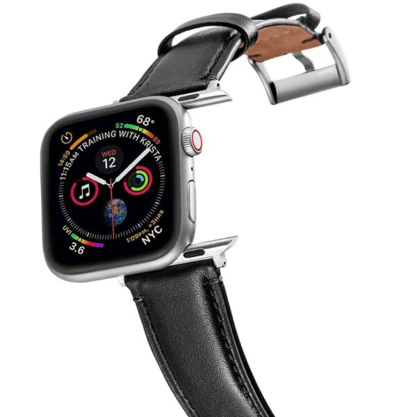 Apple Watch Bands | Genuine Leather Straps | Black