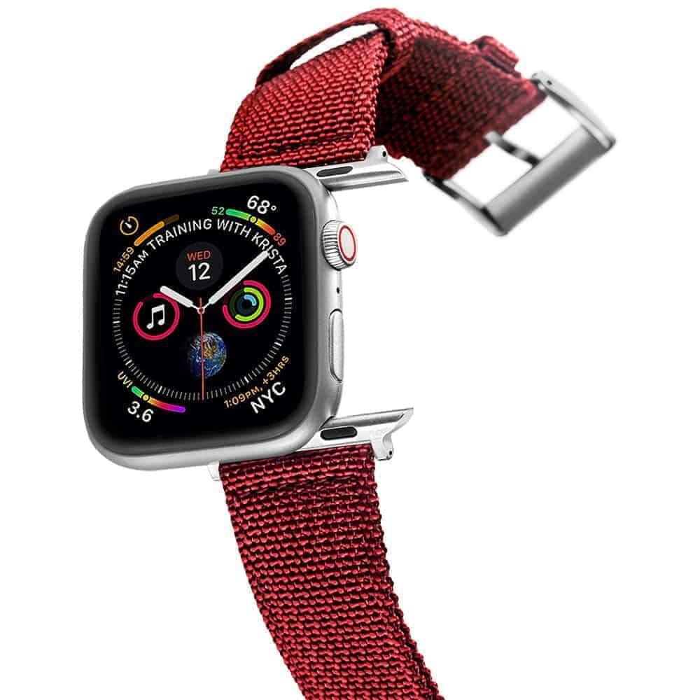 Apple Watch Bands   Canvas Straps   Red