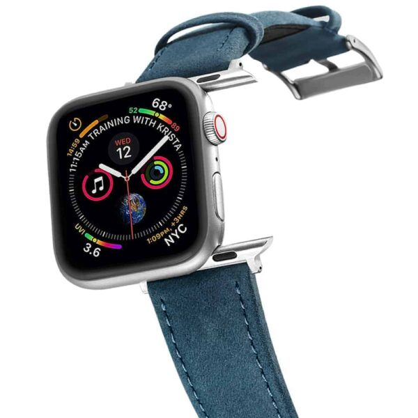 Apple Watch Bands | Genuine Leather Watch Bands | Navy Blue