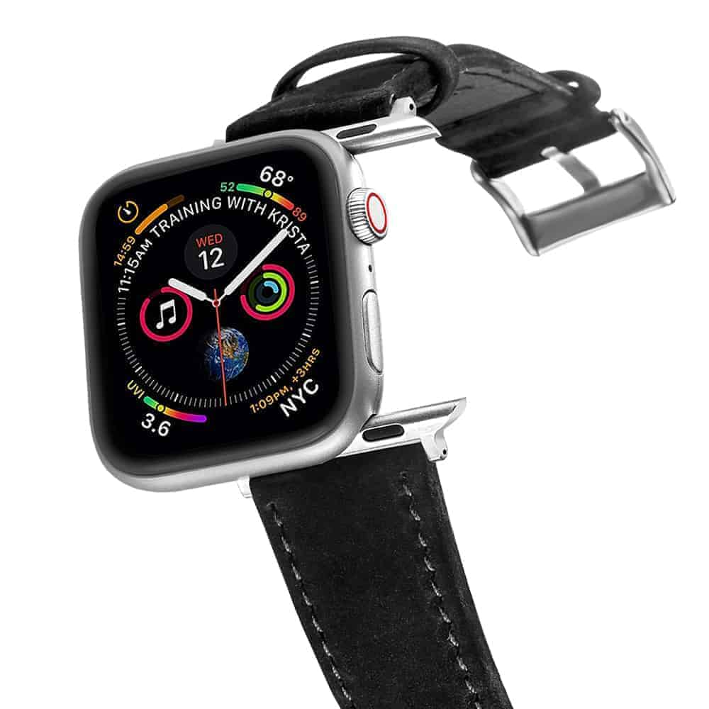 Apple Watch Bands | Genuine Leather Watch Bands | Black