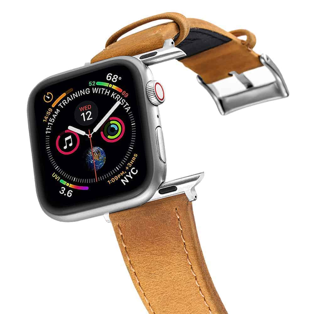 Apple Watch Bands   Genuine Leather Watch Bands   Brown