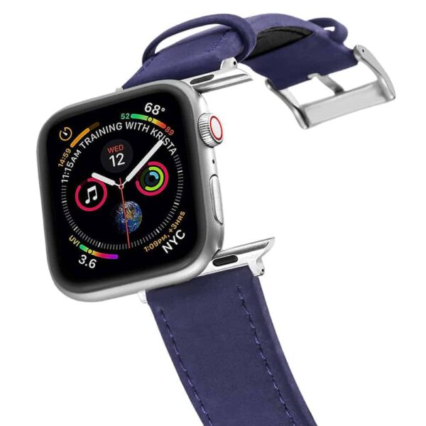 Apple Watch Bands | Genuine Leather Watch Bands | Blue