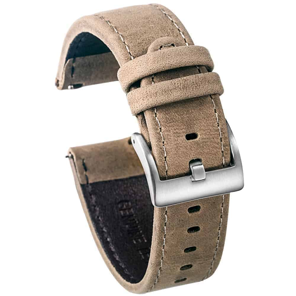 WITHINGS NOKIA ACTIVITE AND STEEL HR | Genuine Leather Watch Bands | Grey