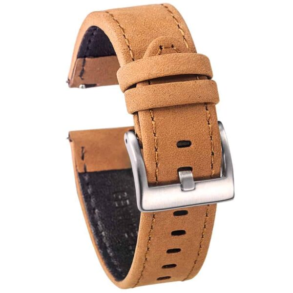 WITHINGS NOKIA ACTIVITÉ AND STEEL HR | Genuine Leather Watch Bands | Suede Brown