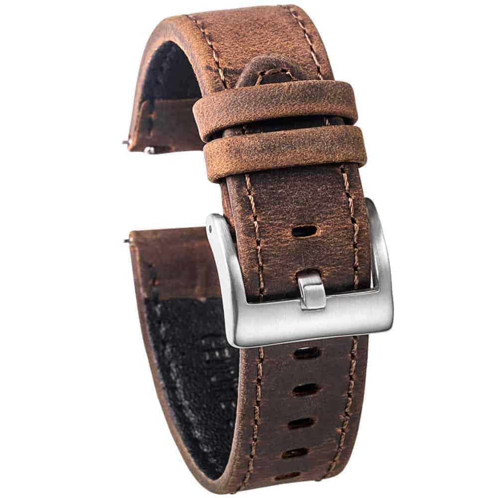 WITHINGS NOKIA ACTIVITÉ AND STEEL HR | Genuine Leather Watch Bands | Saddle