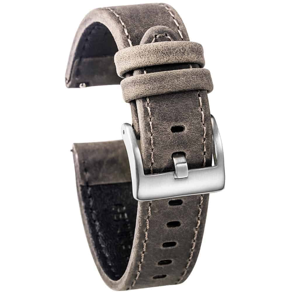 WITHINGS NOKIA ACTIVITÉ AND STEEL HR | Genuine Leather Watch Bands | Dark Grey