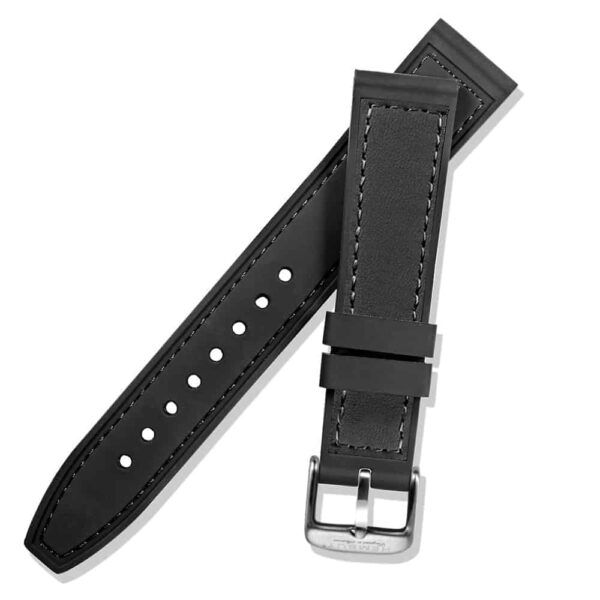 WITHINGS NOKIA ACTIVITE AND STEEL HR | Silicone & Leather Hybrid Watch Bands | Black