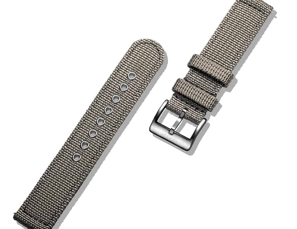 Grey | Canvas Watch Straps Quick Release