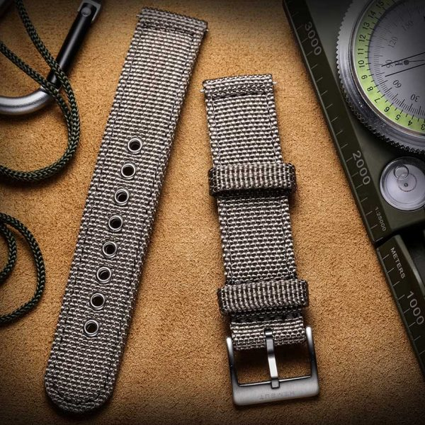 Grey | Canvas Watch Straps Quick Release