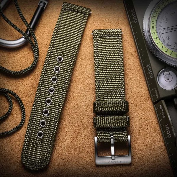 WITHINGS NOKIA ACTIVITE AND STEEL HR | Canvas Watch Band | Green