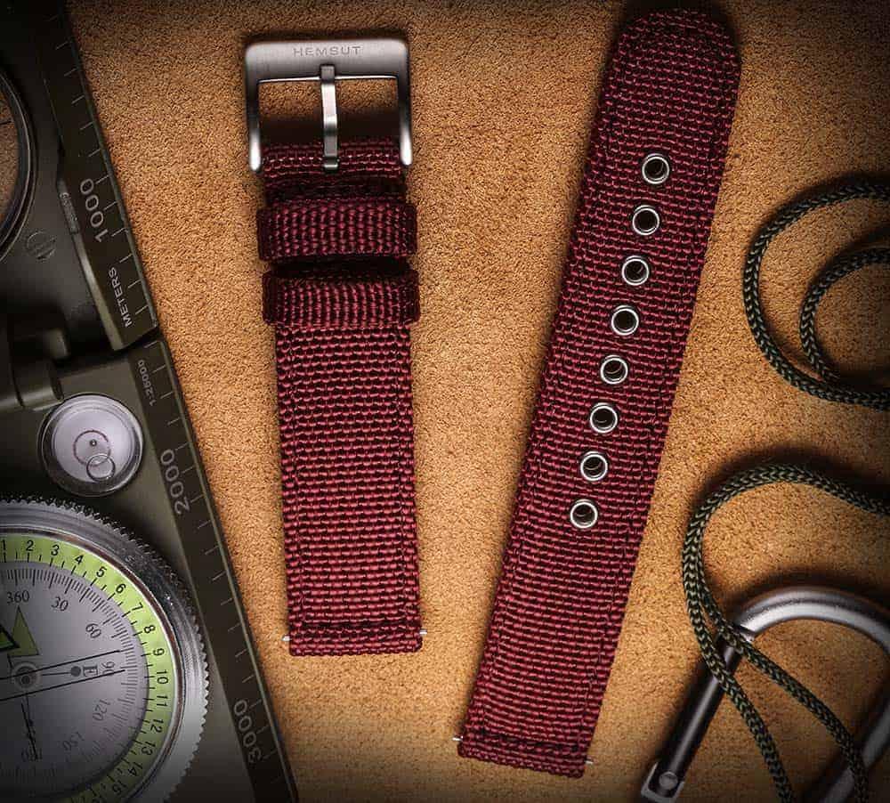 Samsung Galaxy Watch Active 2 | Canvas Watch Band | Red
