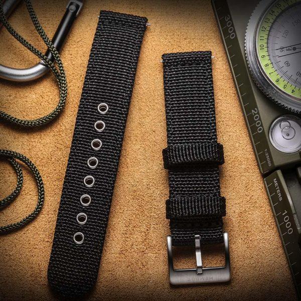 Samsung Gear Sport | Canvas Watch Band | Black