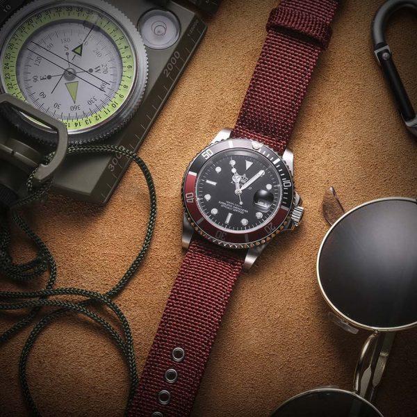 Samsung Galaxy Watch | Canvas Watch Band | Red