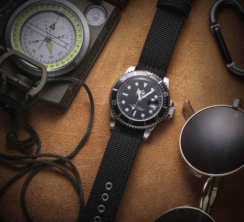 Samsung Gear S2 | Canvas Watch Band | Black