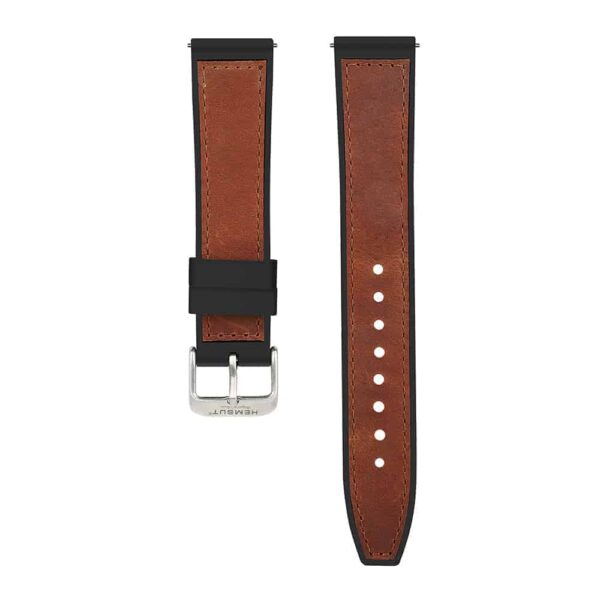 Samsung Gear Sport | Silicone & Leather Hybrid Watch Bands | Brown