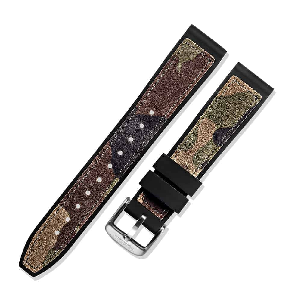 FOSSIL GEN 5 | Silicone & Leather Hybrid Watch Bands | Cambo