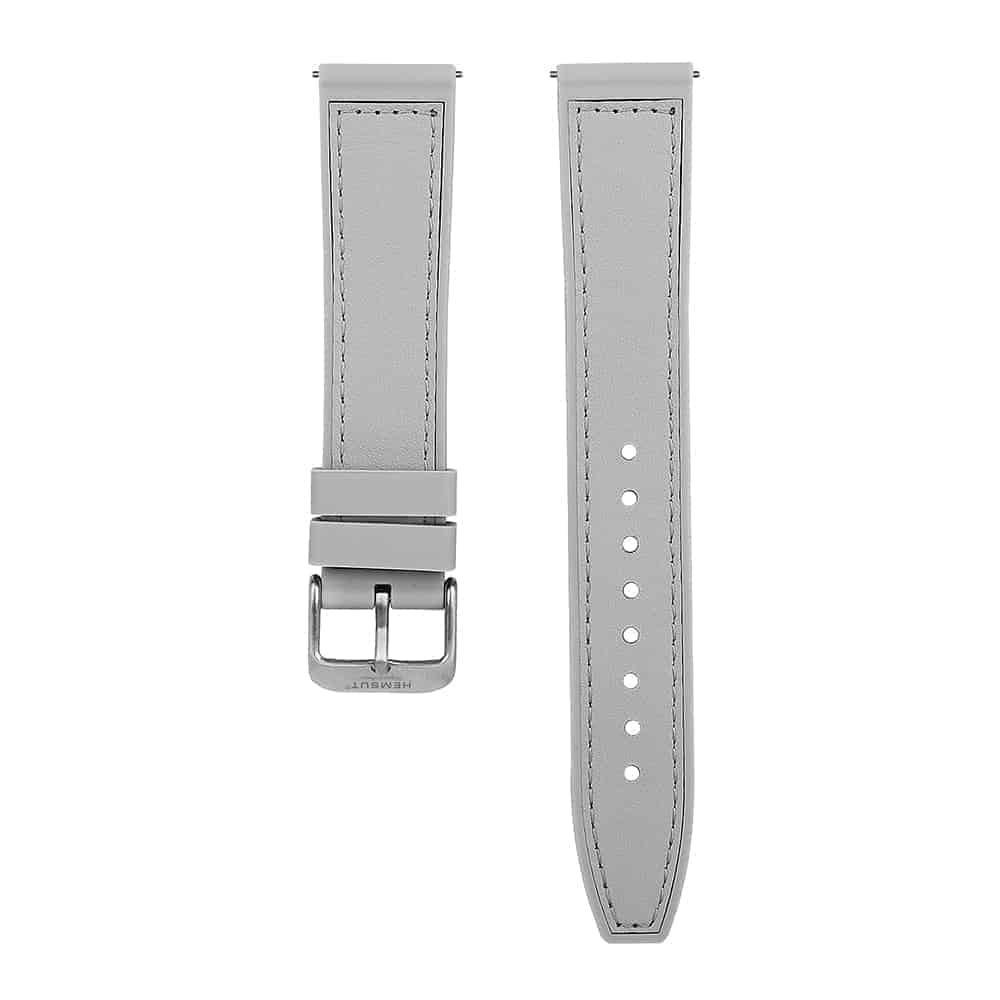 Samsung Galaxy Watch Active | Silicone & Leather Hybrid Watch Straps | Grey