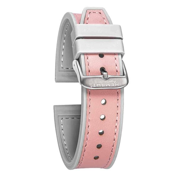 Samsung Gear Sport | Silicone & Leather Hybrid Watch Bands | Pink