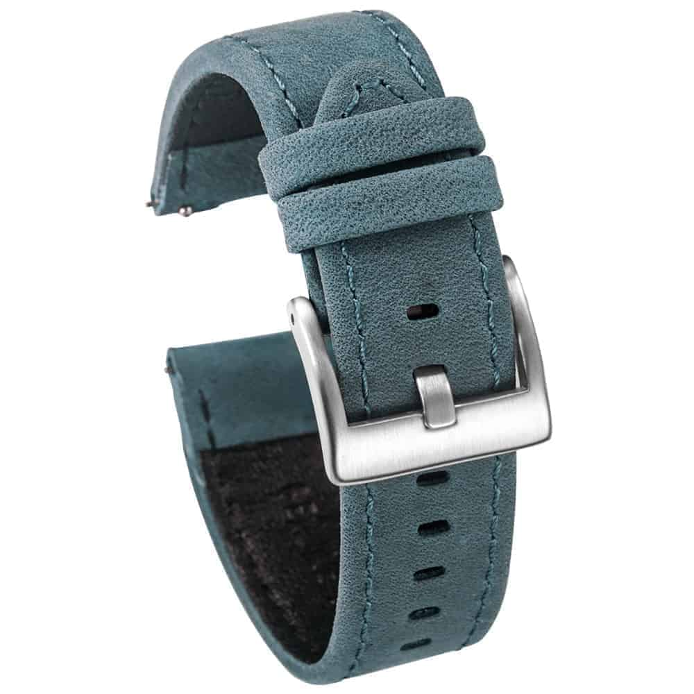 WITHINGS NOKIA ACTIVITÉ AND STEEL HR | Genuine Leather Watch Bands | Navy Blue