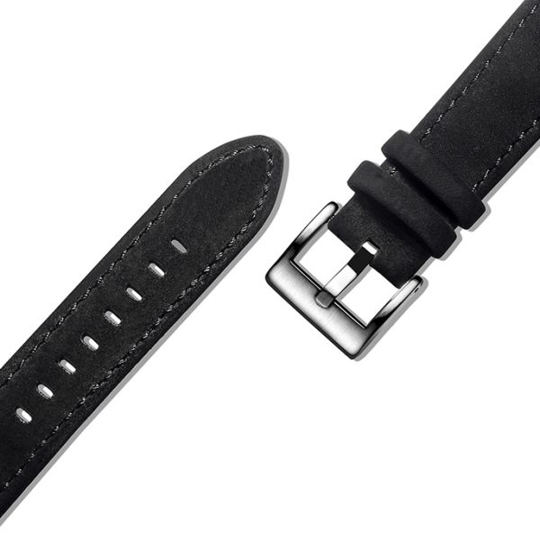 Black | Genuine Leather Watch Bands Quick Release