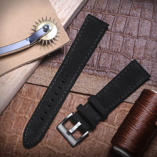 Samsung Galaxy Watch | Genuine Leather Watch Bands | Black
