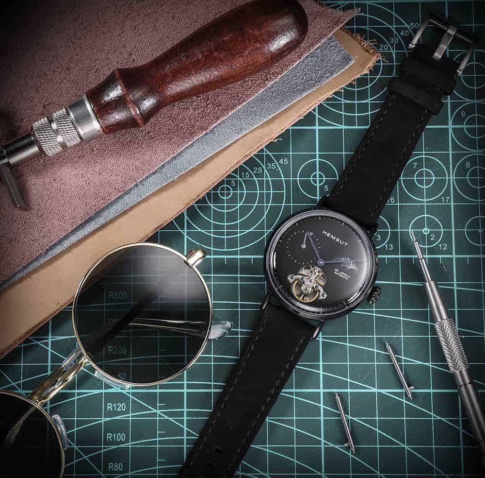 Samsung Galaxy Watch Active | Genuine Leather Watch Bands | Black