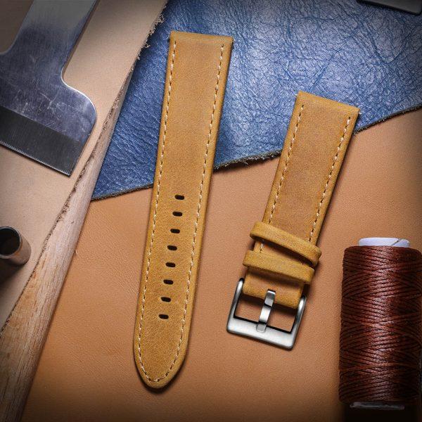 Samsung Galaxy Watch | Genuine Leather Watch Bands | Brown