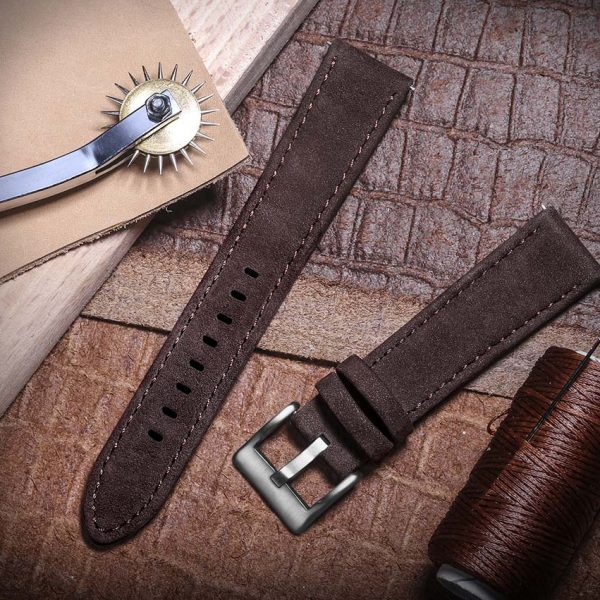 FOSSIL GEN 5 | Genuine Leather Watch Bands | Saddle
