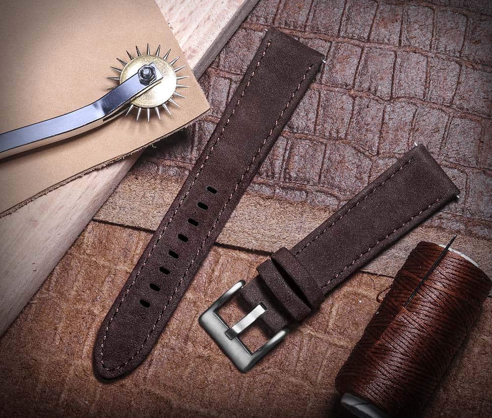Samsung Galaxy Watch | Genuine Leather Watch Bands | Coffee